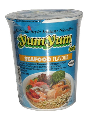 Instant Cup Noodles - Seafood Flavour - YUM YUM