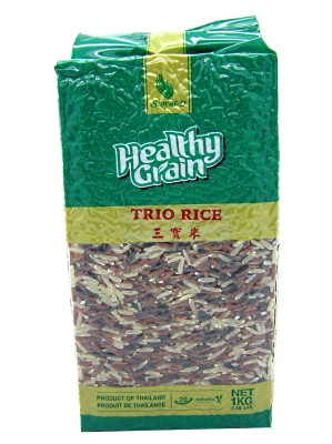 !!!!!!!!HEALTHY GRAIN!!!!!!!! Mixed (brown, red cargo & black glutinous) Rice 1kg - SAWAT-D