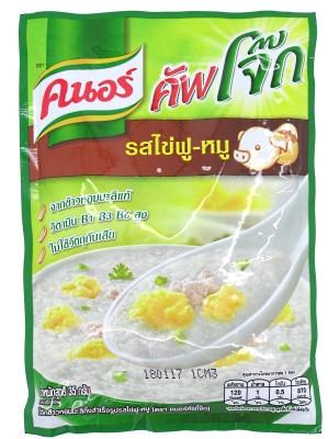 Instant Rice Porridge - Egg & Pork Flavour 35g - KNORR