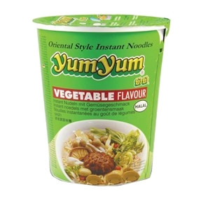 Instant Cup Noodles - Vegetable Flavour - YUM YUM