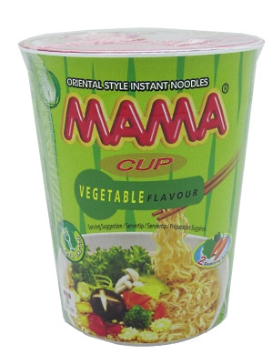 Instant Cup Noodles - Vegetable Flavour - MAMA