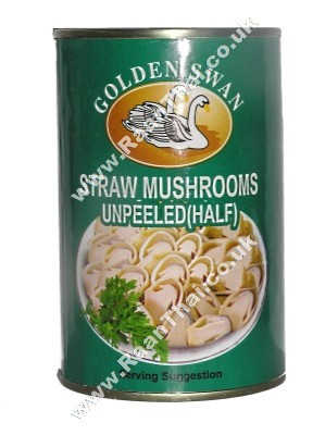 Straw Mushrooms (half-cut) in Brine - GOLDEN SWAN