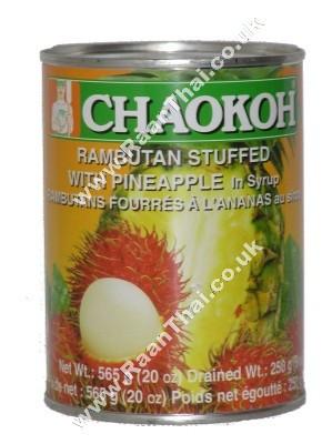 Rambutan Stuffed with Pineapple in Syrup - CHAOKOH