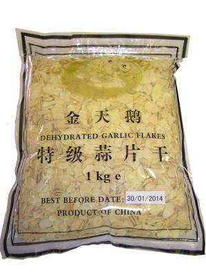 Dried Garlic Flakes 1kg - GOLDEN SWAN
