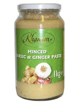 Minced Garlic & Ginger Paste 1kg - KHANUM