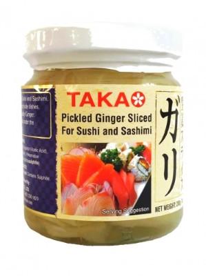 Sliced Pickled Ginger (white) 200g - TAKAO