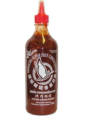Sri Racha Hot Chilli Sauce - Super Hot 730ml - FLYING GOOSE
