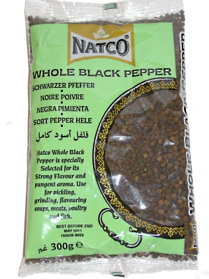 Whole Black Pepper 300g - NATCO