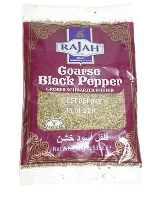 Coarse Ground Black Pepper 100g - RAJAH