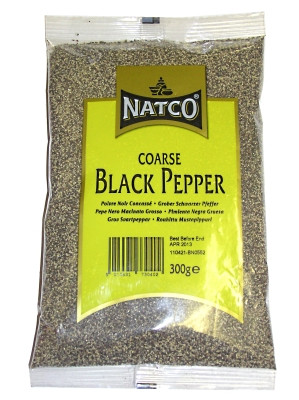 Coarse Black Pepper 300g - NATCO