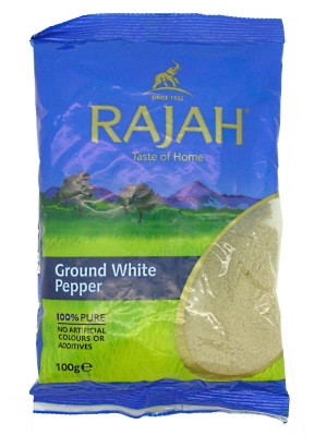 Ground White Pepper 100g - RAJAH