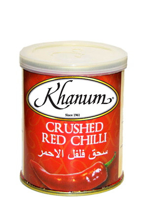 Crushed Red Chilli (tin) - KHANUM