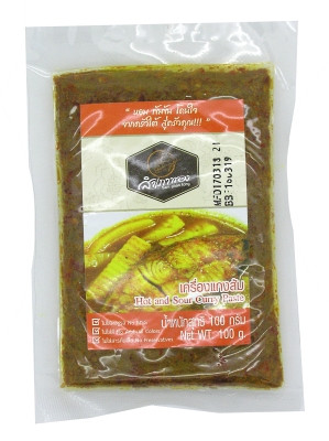 Hot & Sour Curry Paste 100g - SAM PHAO TONG
