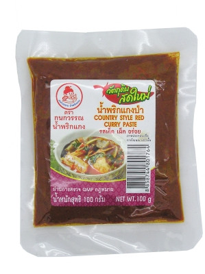 Country-style Red Curry Paste 100g - KANOKWAN