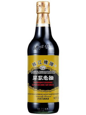 Mushroom Flavoured Superior Dark Soy Sauce 500ml - PEARL RIVER BRIDGE