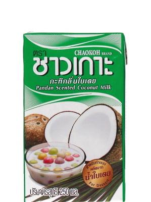 Pandan Scented Coconut Milk 250ml - CHAOKOH