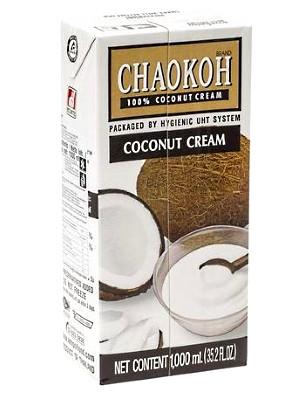 100% Coconut Cream 1ltr - CHAOKOH
