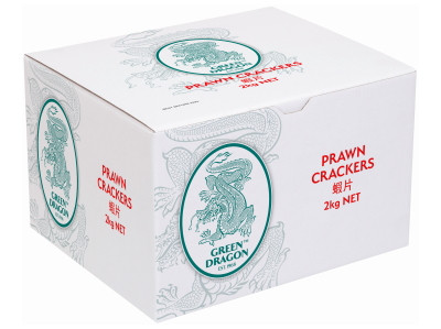 Chinese Prawn Crackers (uncooked) 2kg - GREEN DRAGON