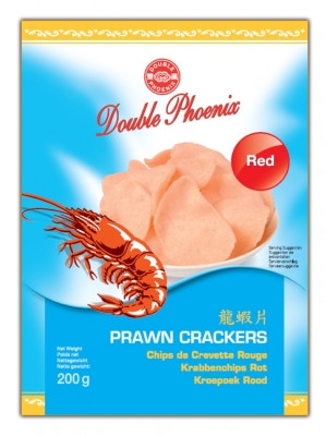 Red Prawn Crackers 200g - DOUBLE PHOENIX