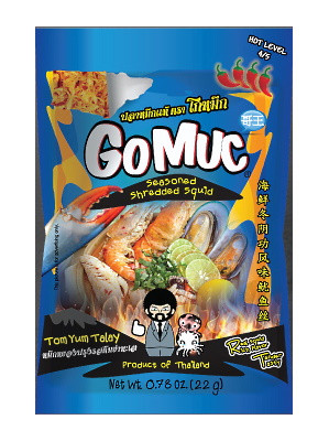 Seasoned Shredded Squid – Tom Yum Talay Flavour – GOMUC