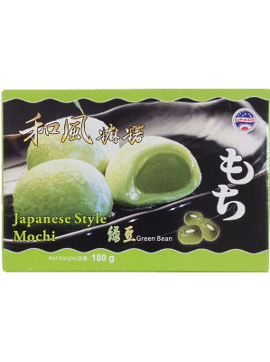 Japanese Style Mochi – Green Bean Flavour 180g (box) – SUN WAVE