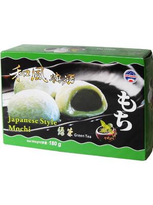 Japanese Style Mochi – Green Tea Flavour 180g (box) – SUN WAVE