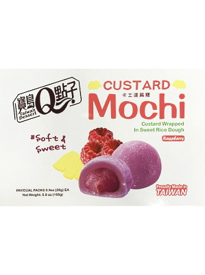Custard Mochi – Raspberry 168g – Q BRAND