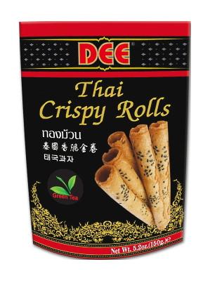 Thai Crispy Rolls (Thong Muan) - Green Tea Flavour - DEE