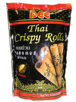 Thai Crispy Rolls (Thong Muan) - Durian Flavour - DEE