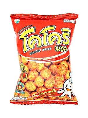 Baked Corn & Rice Snack - Cuttlefish Flavour - COCORI