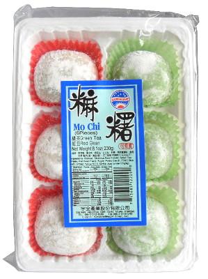 Mochi (Japanese Rice Cake) – Green Tea & Red Bean – SUN WAVE