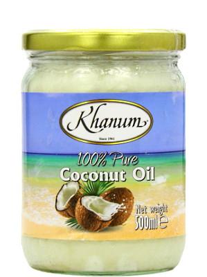 100% Pure Coconut Oil 500ml - KHANUM