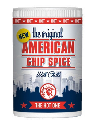 AMERICAN CHIP SPICE Seasoning for Chips, Wedges, Pizza, Salad, etc. - HOT