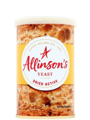 Dried Active Yeast 125g - ALLINSON'S