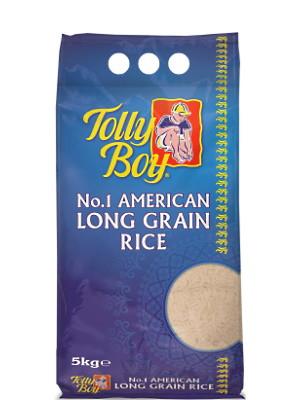 No.1 American Long Grain Rice 5kg - TOLLY BOY