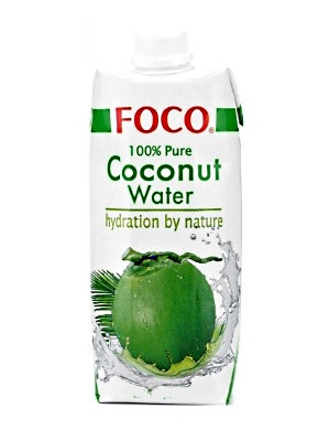 100% Natural Coconut Water 330ml – FOCO