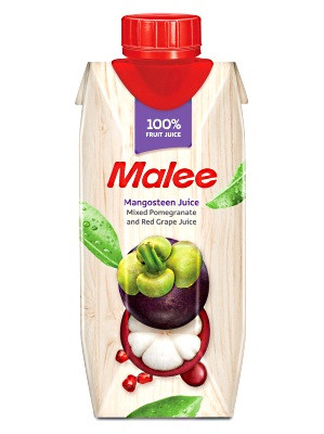 100% Mangosteen with Pomegranate & Red Grape Juice 330ml - MALEE