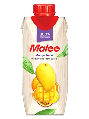 100% Mango with Mixed Fruit Juice 330ml - MALEE