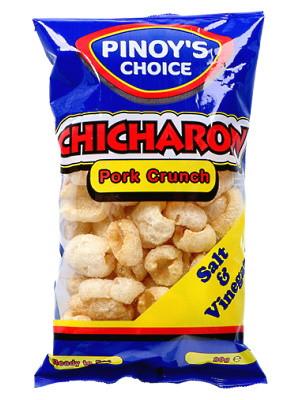 Chicharon (Fried Pork Rind) - Salt & Vinegar Flavour - PINOY'S CHOICE