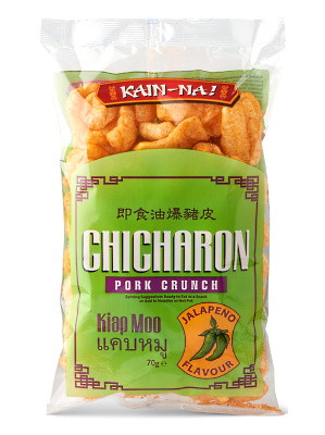 Chicharon (Fried Pork Rind) - Jalapeno Flavour - KAIN-NA