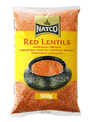 Red Lentils 500g - NATCO