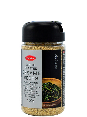 White Roasted Sesame Seeds 100g - YUTAKA