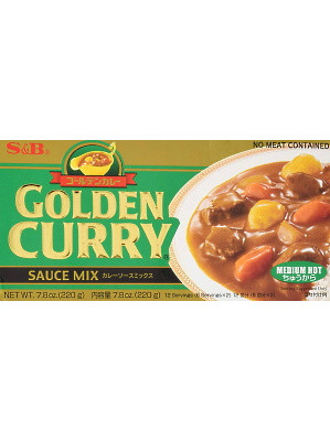 Golden Curry (Med) 240g - S&B