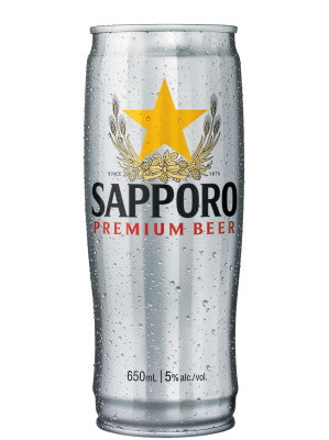 SAPPORO Imported Lager 650ml (can)