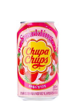 Sparkling Strawberry Cream Flavour Drink - CHUPA CHUPS
