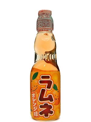 RAMUNE Carbonated Soft Drink - Orange Flavour - HATA