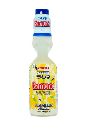 RAMUNE Carbonated Soft Drink - Yuzu Citrus Flavour - KIMURA