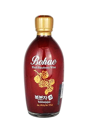 Korean Black Raspberry Wine 375ml - BOHAE