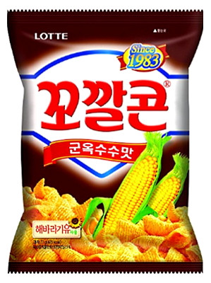 KOKAL Corn Snack - Grilled Corn Flavour 72g - LOTTE