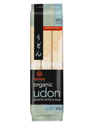 Organic Udon Noodles - HAKUBAKU
